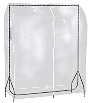 "Hangerworld 35"" Transparent Clothes Garment Rail Cover with Strong Zipper and Document Pocket"