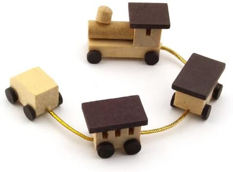 MyTinyWorld Dolls House Miniature Wooden Toy Train