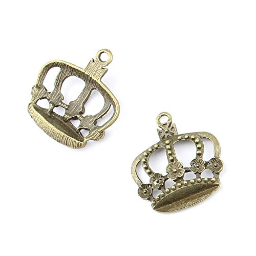 10 pieces Anti-Brass Fashion Jewelry Making Charms 2640 Flower Crown Wholesale Supplies Pendant Craft DIY Vintage Alloys Necklace Bulk Supply Findings Loose (Making A Flower Crown)