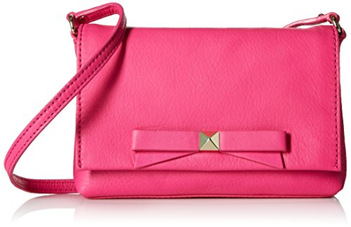 Bag Mini Spade Shoulder Light Peony body Pink Leather Bright Kate Carah in Cross waIzfTfqx