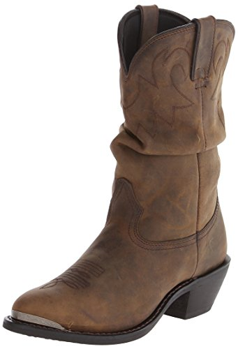 Durango Women's RD542 Slouch 11'' Western Boot,Distressed Tan,10 M US by Durango