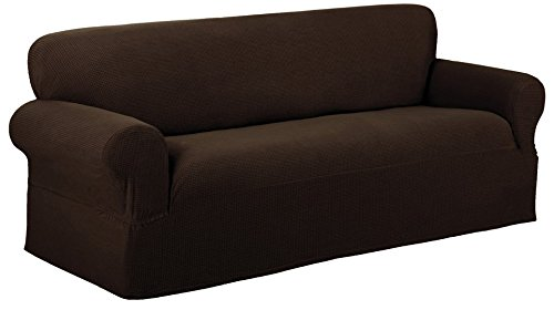 Maytex Reeves Stretch 1-Piece Loveseat Furniture Cover / Slipcover, (Regular Recliner Sofa)