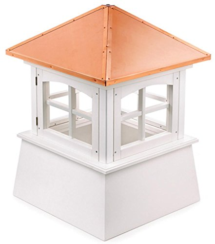 128'' Handcrafted ''Windsor'' Copper and Vinyl Roof Cupola by CC Outdoor Living