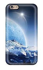 Iphone 6 Hard Back With Bumper Silicone Gel Tpu Case Cover Planet Fall