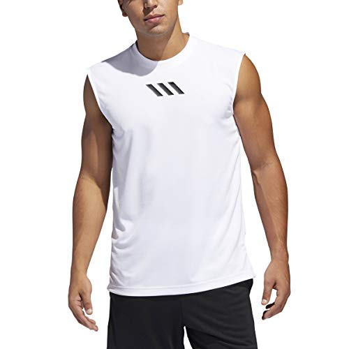 - adidas Men's Pro Madness Sleeveless Tank Top, White, Large