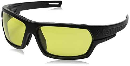 (Under Armour Men's Battlewrap Ballistic 8630081-010190 Sunglasses, Satin Black, 66 mm)