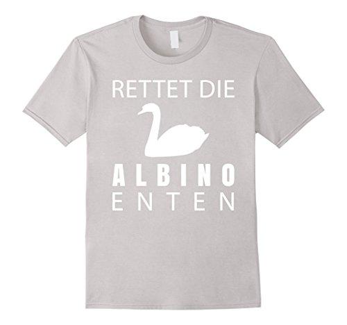 mens-rettet-die-albino-enten-weisser-schwan-t-shirt-medium-silver