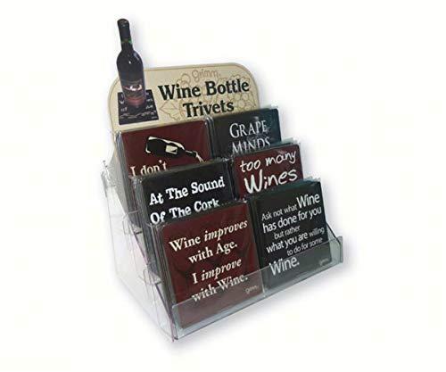 (OKSLO Wbtdisplay wine bottle trivets counter display)