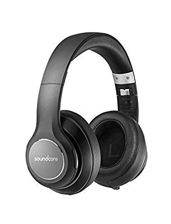Over Ear Headphones, Soundcore Vortex Wireless Headset by Anker, 20H Playtime, Deep Bass, Hi-Fi Stereo Earphones for PC Phones TV, Soft Memory-Foam Ear Cups, w Mic and Wired Mode