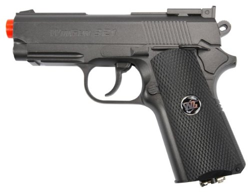 - TSD Tactical SDGP321BH TSD Sports Metal M1911 CO2 Pistol Black with black grip 450+FPS