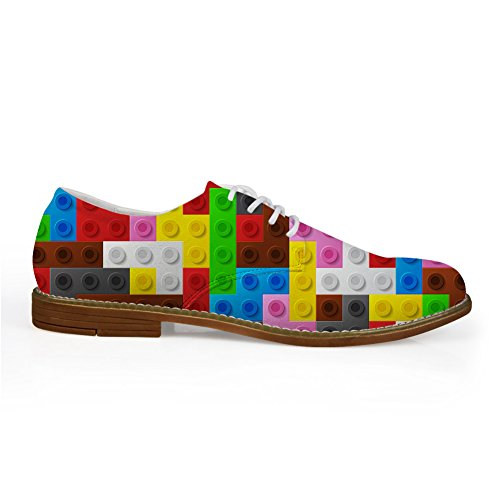 Abrazos Idea Colorido Para Hombre Moda Llano Dedo Del Pie Oxford Zapato Colorido 9