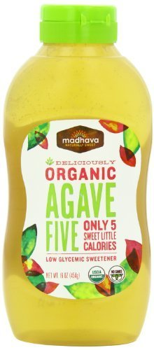 Madhava Natural Sweeteners Organic Agave Five Nectar 16 Ounce (Pack of 6) - Pack Of 6