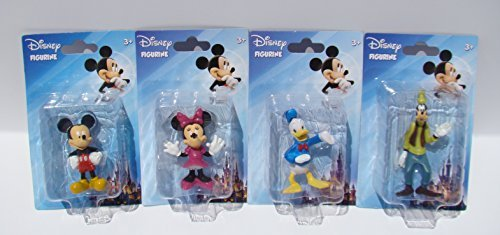 Disney Mickey Mouse Clubhouse & Friends Cake Toppers Set of 4 (Micky Mouse Cake)