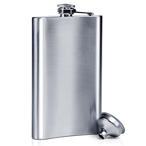 Stainless Steel 10oz Alcohol Flask - 1