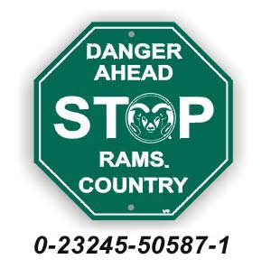 Colorado State Rams Stop Sign NCAA by FD
