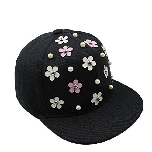 Boys Baseball Caps Hip Hop Golden Floral Girls Cap Adjustable Hat Gift Sun Hats