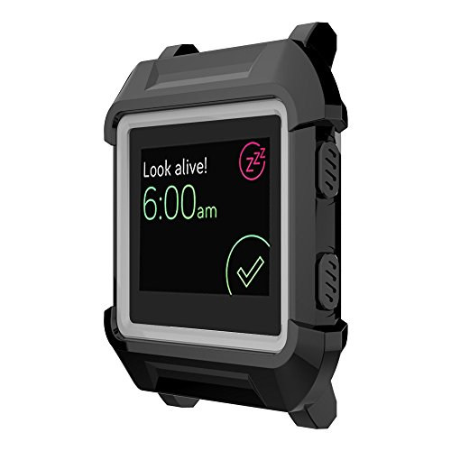 UMTELE Replacement Protective Case for Fitbit Blaze Smart Fitness Watch, Black/Gray
