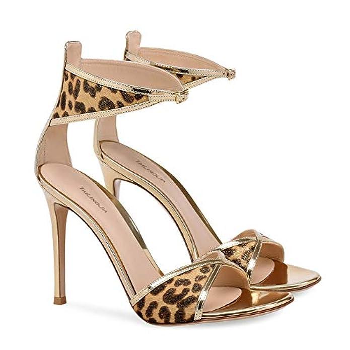 Alto Donna Tacco Sandali Con 37 Borse Leopardo Donna Yojdtd Da E Stampa Scarpe