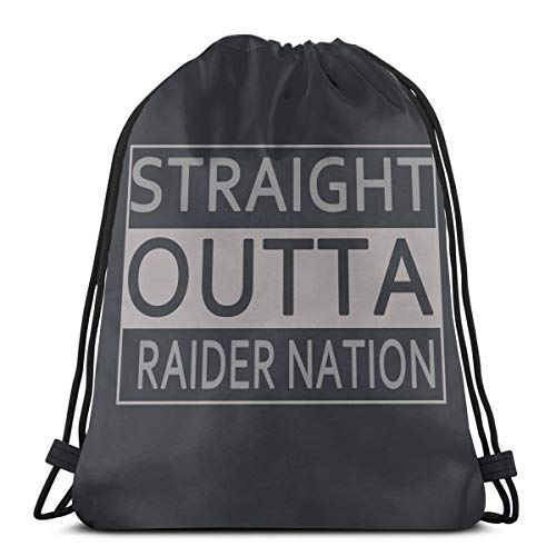 - Adam B George8 Unisex Straight Outta Raider Nation School Swimming Drawstring Bag Backpack