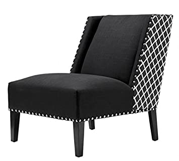Casa-Padrino Luxury Art Deco Armchair Black/White - Art ...