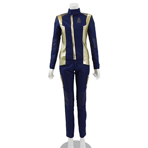 [Women's Blue Scientific Officer Uniform Suits for Halloween Cosplay] (Pop Culture Reference Costumes)
