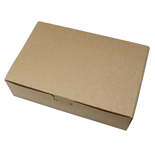 10 Pieces 7.1x4.7x1.8 inch (18x12x4.5cm) Brown Kraft Paper Cube Boxes Folded Cardboard Party Event Favor Packing Box for Baking Handmade Soap Snack Storage Decorative Boxes