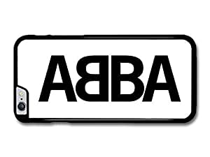 """AMAF ? Accessories Abba Logo Black and White case for iPhone 6 Plus (5.5"""")"""
