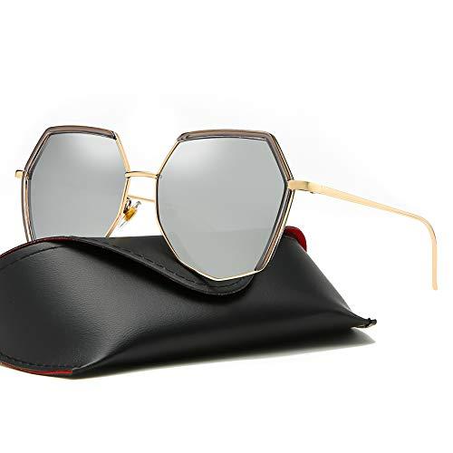 - MOULYAN Polarized Oversize Sunglasses for Women Vintage Retro Men Grey