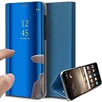 Oihxse beschermhoes voor Huawei Mate 20X, ultradun, elegant, modieus, spiegel, 360°-bescherming, standfunctie, flip-view…