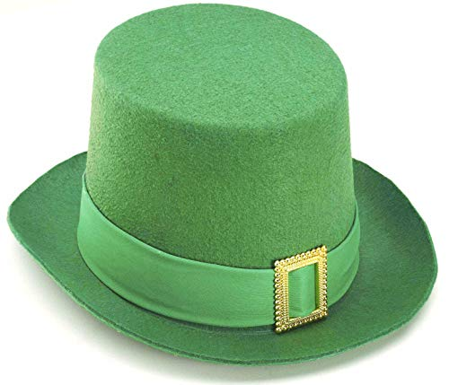 Forum Novelties St. Patrick's Day Costume Top Hat, Green Felt, One Size