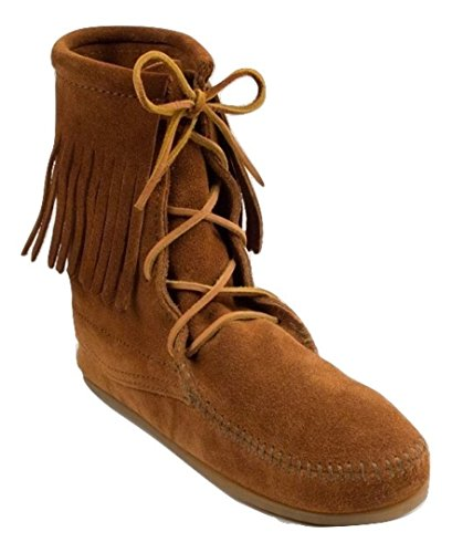 High Women's 422 Minnetonka Hardsole Mocassin Tramper Boots Boot Boots Suede Ankle Brown X4TXqtAw