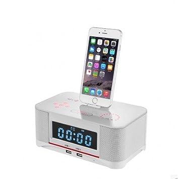 Digi4u A8S NFC altavoz Bluetooth con radio reloj 4 Samsung LG HTC Android Apoyo: Amazon.es: Electrónica