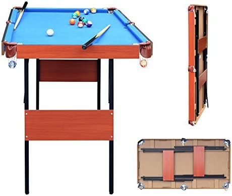 JCF Mini Mesa de Billar Snooker Mesa Plegable, Color Azul, con Bolas, 140 x 74.3 x 80.3 cm Azul: Amazon.es: Juguetes y juegos