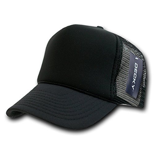 DECKY Solid Trucker Cap, Black ()