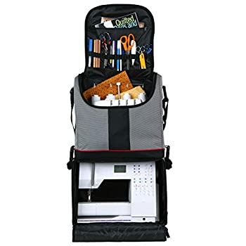 Image of Clothing & Closet Storage ArtBin Tote Express, Black/Gray Rolling Art Craft Storage Bag,6922SA