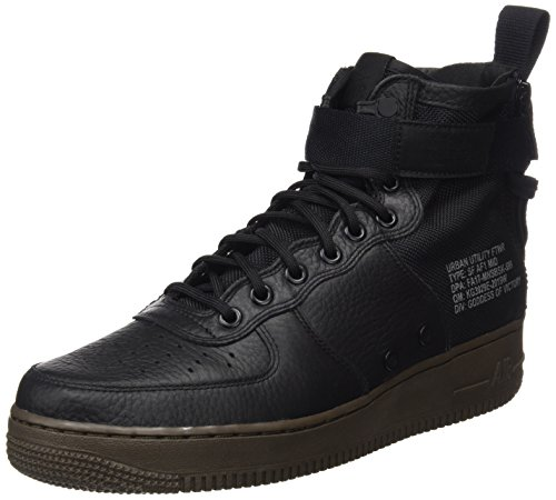 (Nike Mens SF AF1 Mid Basketball Shoe Black/Dark-hazel 11 D(M) US)
