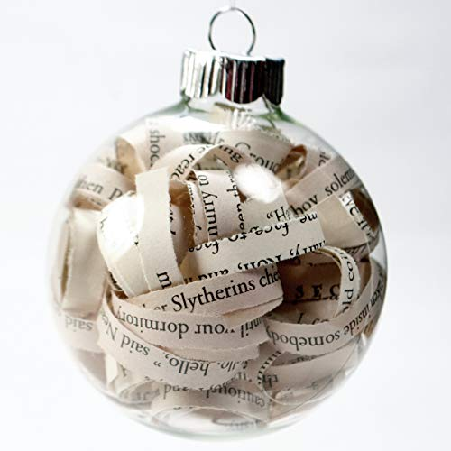 Addict Ornament - Harry Potter Christmas Ornament - 2.62 Inch Glass Ornament with 1/4 Inch Strips