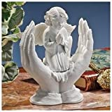 Classic Prayers of a Child Angel in Praying Hands Bonded Marble Statue Sculpure