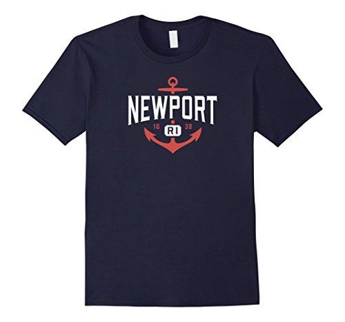 Mens Newport RI Shirt, Nautical Rhode Island Anchor Tee 1638 Large - Newport Ri The Shop