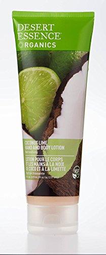 Desert Essence Coconut Lime Hand & Body Lotion - 8 Fl Ounce - Refreshing - Soft & Silky - Vitamin E - Aloe Vera - Deeply Hydrates - Shea Butter