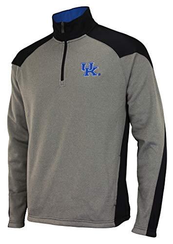 Outerstuff NCAA Men's Helix 1/4 Zip Track Jacket, Kentucky Wildcats Large