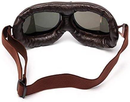 League Co Retrodesign Motorradbrille Pilotenbrille Schutzbrille Fliegerbrille Helm Brillen Mehrfarbig Auto