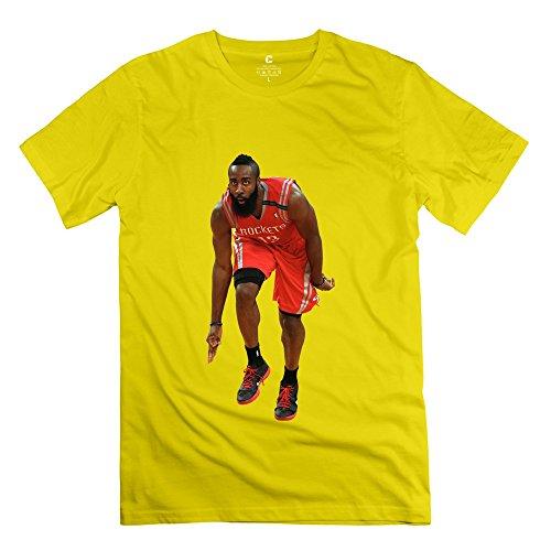 RIen Men's Houston Rockets James Harden T-Shirt L
