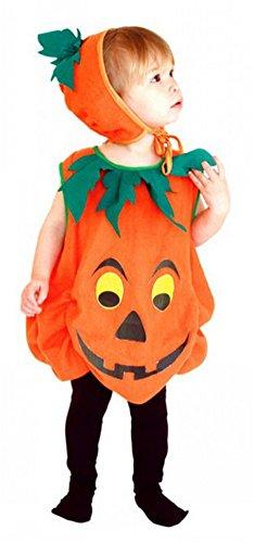 Unisex-kid Halloween Costumes Pumpkin Suit Performance Clothing Orange Children (Small) (Creative Halloween Costumes For Teen Girls)