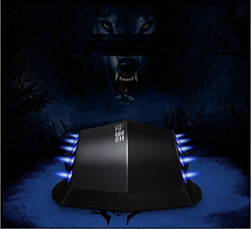 HaiZhi G1 Black LED USB Cable Gaming Mice Laser 3 Color Circular Breathing Backlit 6D 2400DPI High Quality Laptop Desktop Tablet Mouse