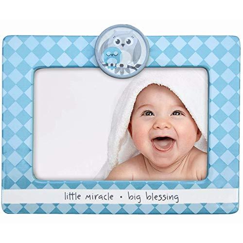 Adorable Little Miracle - Big Blessing Blue Baby Frame - - Frame Dot Ceramic