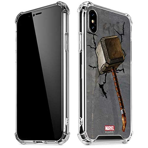 (Skinit Mjolnir Hammer of Thor iPhone XR Clear Case - Officially Licensed Marvel/Disney Phone Case Clear - Transparent iPhone XR Cover)