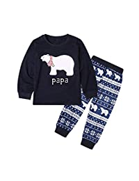 Meijunter Family Christmas Pajamas Set Matching - Sleepwear Long Top & Bottoms