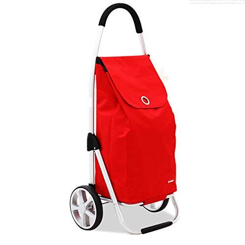 RHHWJJXB Aluminum Shopping Cart Shopping Cart Climbing Car Stroller Portable Small Cart Folding Trolley Car (Color : E) by RHHWJJXB (Image #5)