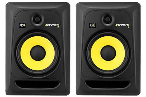 KRK RP8G3 ROKIT 8 G3 2-Way Powered Studio Monitor (Discontinued), Black, 8-Inch - 8 Inch Way 2 Studio Active